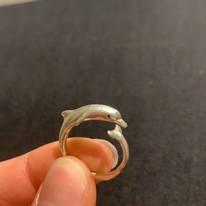 UNIQUE Ocean Inspired Silver Dolphin Ring